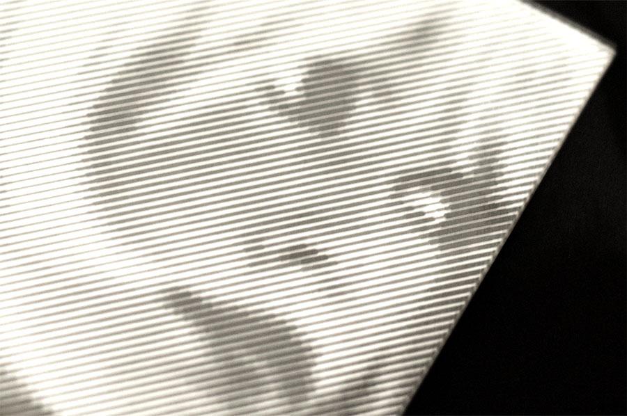 Gravure laser sur miroir