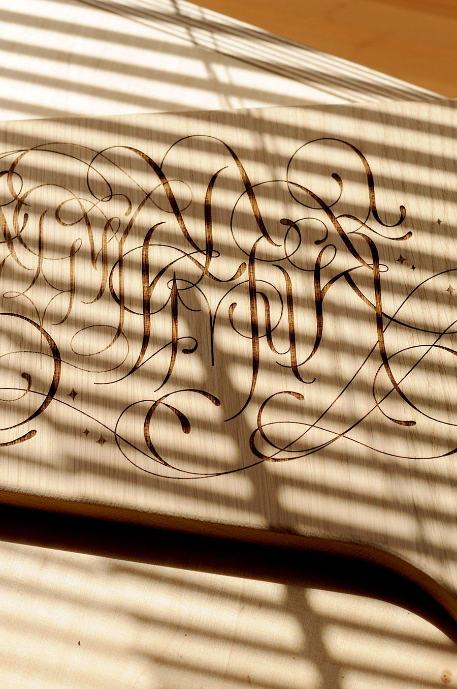 Gravure laser sur bois