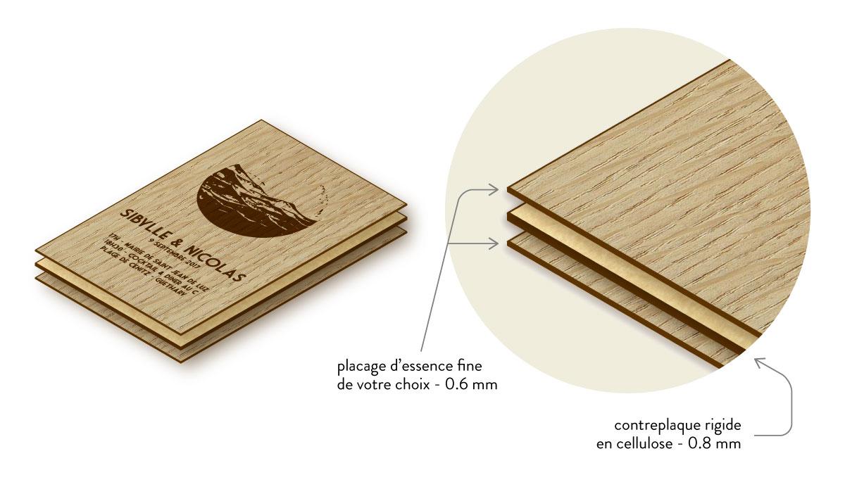 faire-parts en bois