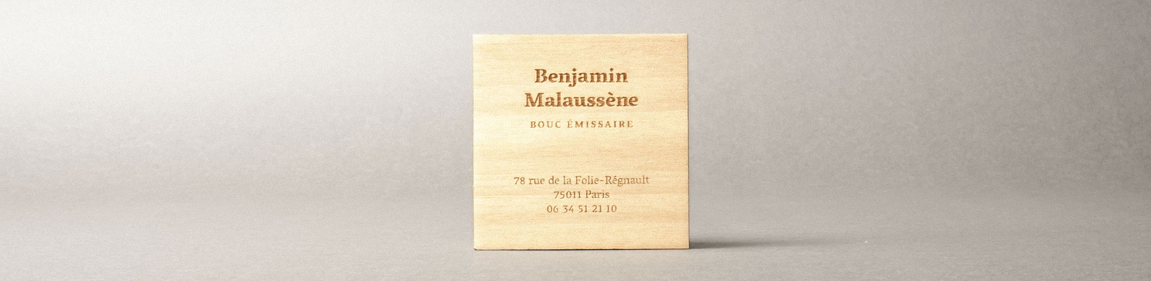cartes de visite en bois