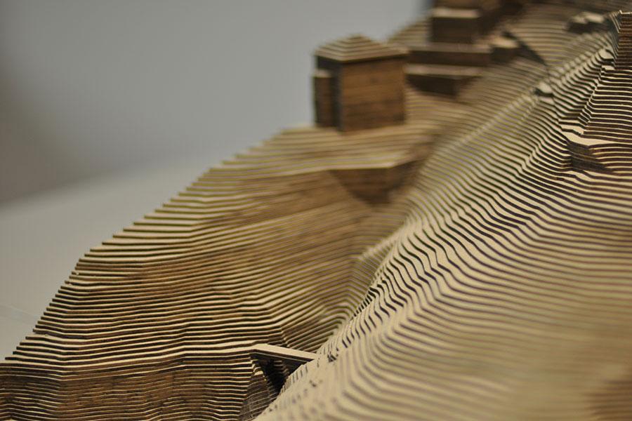 Maquette d'architecture en carton