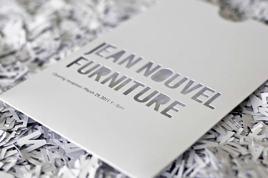 Invitation en papier découpé