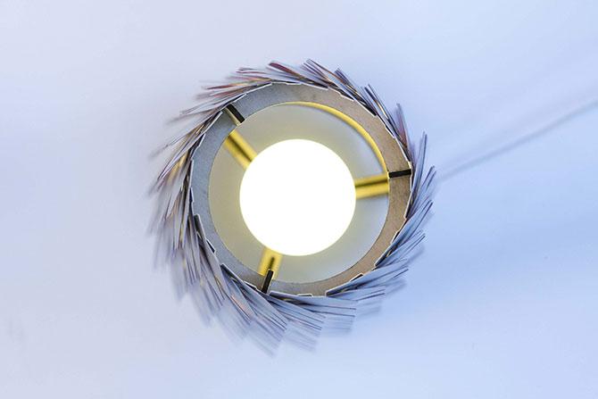 Lampe en découpe laser